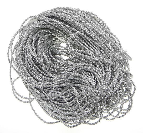 Free shipping!!! 3mm Length:100 Yard Sold By Lot Blanks PU silver Leather Cord Jewelry DIY Accessory