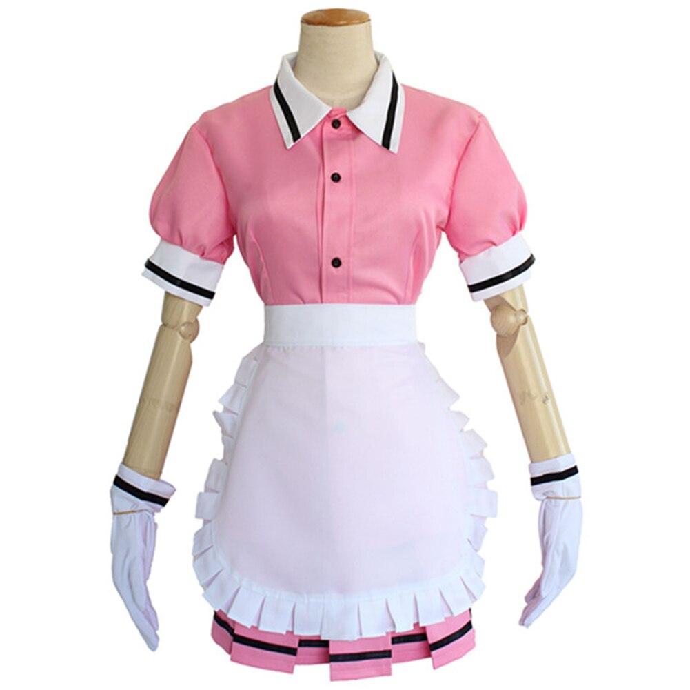 Mélange Brdwn S Sakuranomiya Maika Hinata Kaho Hoshikawa Mafuyu costume cosplay robe tablier (hauts + jupe + tablier + gants)