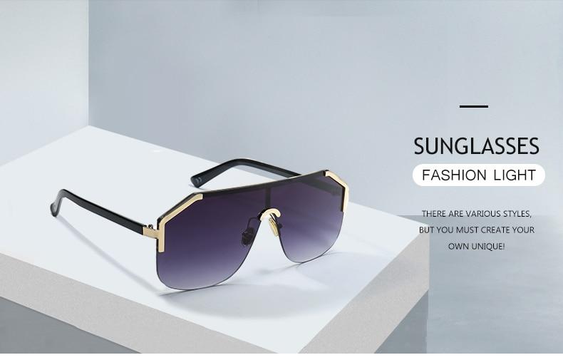 Sunglasses Cheap Sunglasses DENISA Blue Oversized Rimless Sun.We offer the  best wholesale price 3d840bba9b9