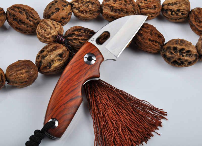 Высокое качество D2 или Дамасская сталь лезвия Природный палисандр ручки карман складной нож Открытый Отдых инструмент выживания бритвы ножи