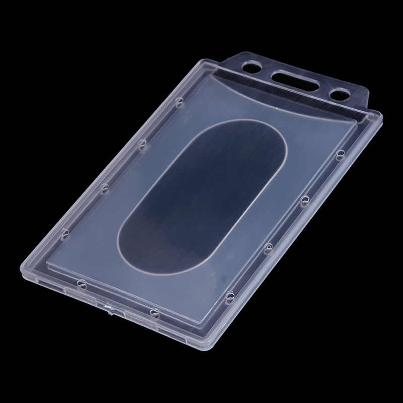 Transparante Plastic Verticale Hard ID Toegang Card Cover Credit Card Case Badge Houder Double Side Kaarthouder Case 1pc /5 pcs