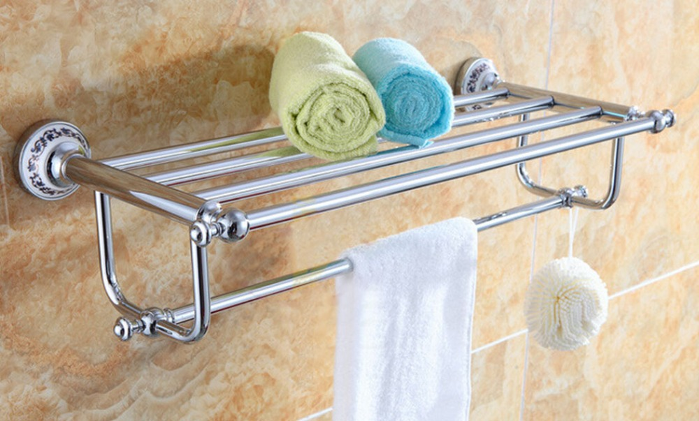 Brass bathroom hardware simple white brass bathroom for Rack for bathroom accessories