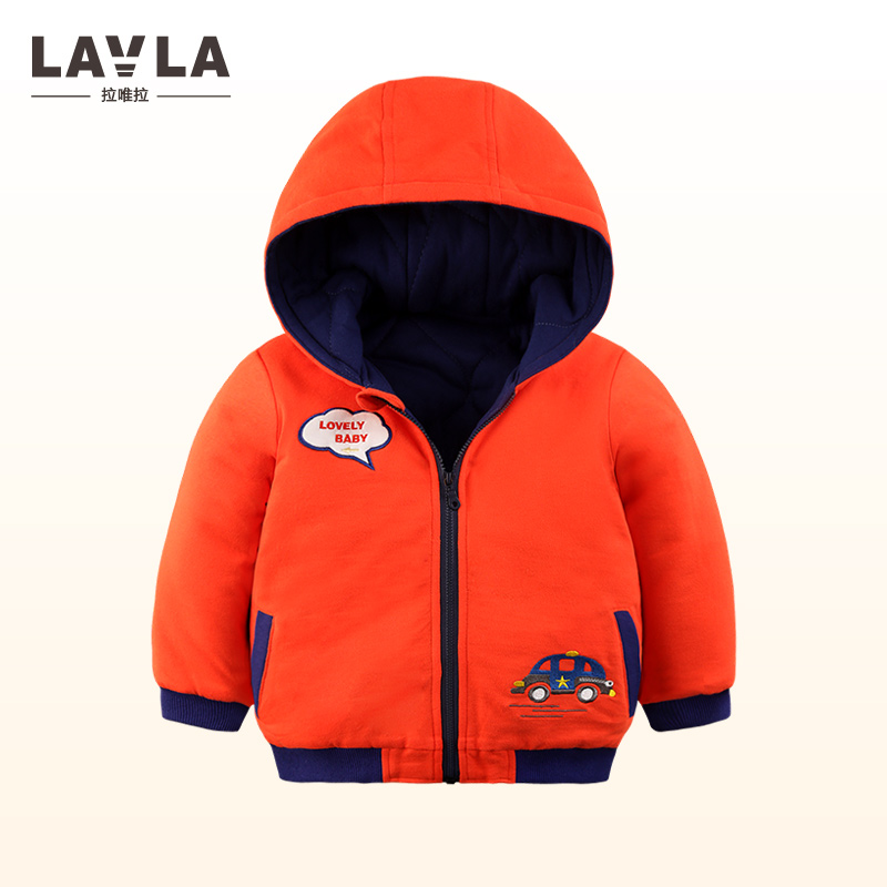 LAVLA 2017 2 Colors Toddler Boys Jacket Autumn Winter Solid Casual Style Kids hooded Jacket For Boys Outerwear paded cotton coat