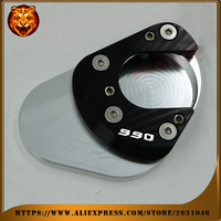 Motorcycle Foot Side Kickstand Pad Stand Extension Support Plate For KTM 990 SMT Adventure Supermoto Free