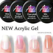 4 Colors UV Builder Gel 8ml Soak Off Franch Nails Acrylic Hard Camouflage Jelly Poly Builder Nail Extend GEL cokekou led hard jelly gel thick nail art manicure mold clear pink camouflage jelly builder nail extend uv soak off gel lacquer
