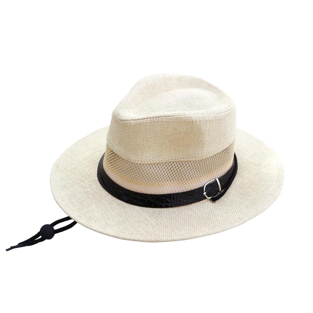 ebea6158fb0 2018 Hot Summer Bucket Hats for Men Outdoor Fishing Wide Brim Sun Hats  Fisherman Cap Sombrero Boonie Hat with Windproof Rope