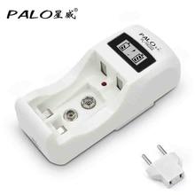 Chargeur de batterie rechargeable 2 fentes chargeur de batterie nimh nicd pour batterie aa aaa 9v 6F22 avec écran LCD
