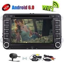 Android 6.0 Car Stereo 2 Din 7inch  for Volkswagen Car DVD Player for VW PASSAT Golf GPS WiFi Head Unit Car Radio CANBUS+Camera