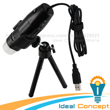Discount! Digital USB Microscope 10x ~ 200x Continuous Magnification Snapshot Video Record Measure with Tripod 8 LED Light