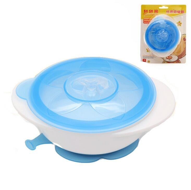 1pcs Toddler Baby Kids Child Feeding Training Bowl ,Binaural Baby Feeding Bowl Tableware Children Plate Sucker Bowl #15