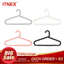 ITNEX 5pcs/Lot Adult Clothes Hangers Outdoor Drying Rack For Jeans Pants Coat Home Storage Holder Dress Plastic Clothing Hanger plastic hangers 5pcs