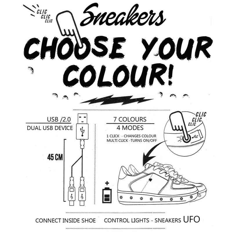 7 ipupas 30-44 בני sole רך & בנות נעלי נעליים זוהרות מדבקות רקמת אופנה led טעינת USB 7 צבע זוהר סניקרס