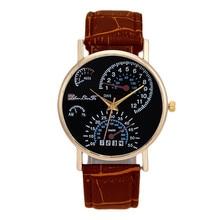 SmileOMG Fashion Men's Leather Band Analog Quartz Business Wrist Watch Brown,Aug 10