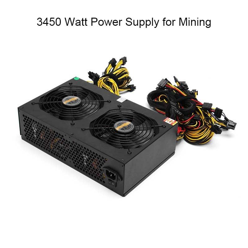 все цены на NEW 80 PLUS Gold 3000W ATX PC Miner Power Supply Machine 24 Graphics Interface For BTC Bitcoin Mining Server PC Power Supplies онлайн