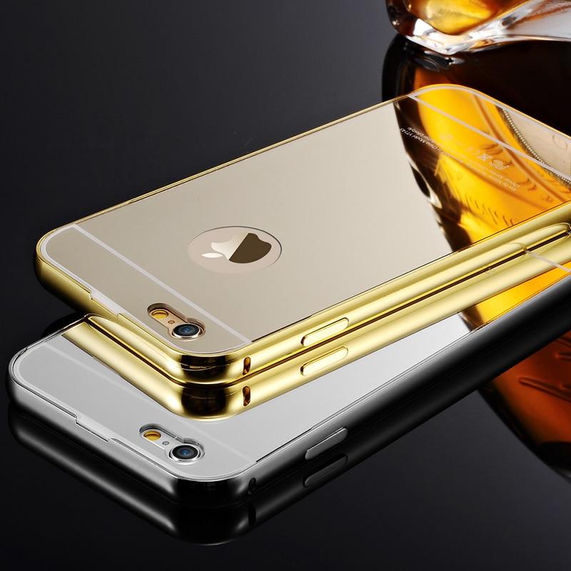 luxury gold mirror aluminum case for iphone 4 4s coque. Black Bedroom Furniture Sets. Home Design Ideas