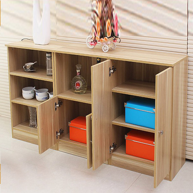 Modern And Simple Meals Small Side Table Sideboard Cabinet Storage Cabinets Microwave Shelf Cupboards Kitchen