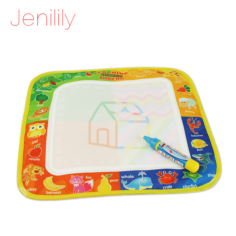 все цены на Drawing Toys Water Drawing Mat 29 * 29.5 CM Board Painting and Writing Doodle With Magic Pen Non-toxic Drawing Board for Kids