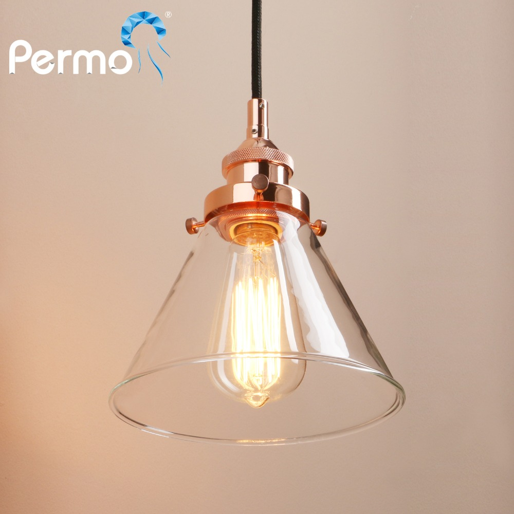 copper lighting fixture. PERMO Retro Pendant Lights Copper Glass Ceiling Lamp Modern Hanglamp Luminaire Vintage Fixture-in From \u0026 Lighting On Fixture F