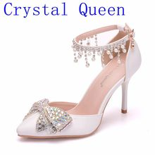 Shoes Dress Crystal Butterfly-knot