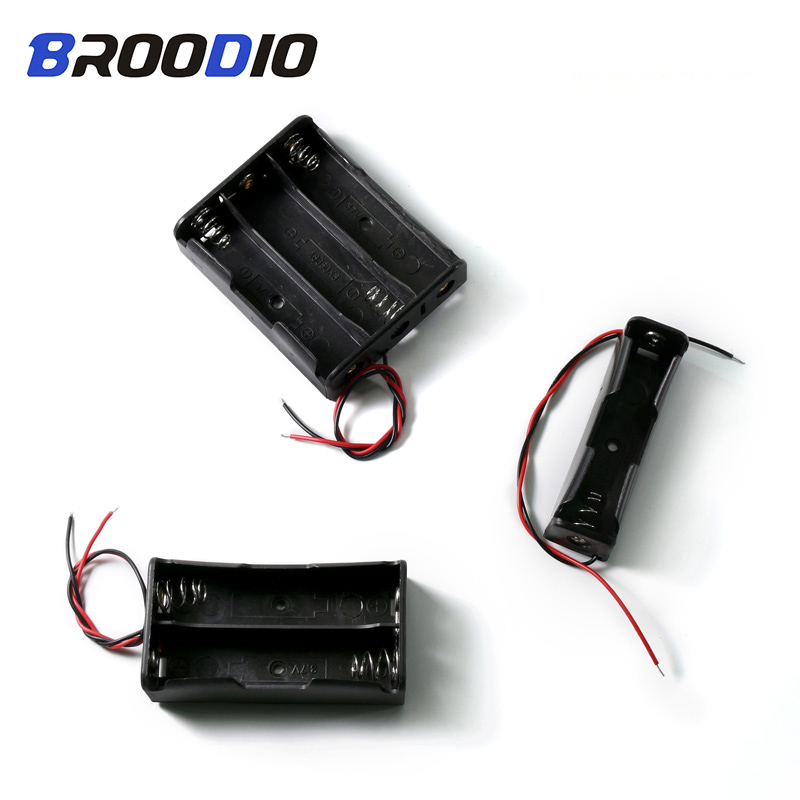 DIY DC 7.4V 2 Slot Double Series 18650 Battery Holder Battery Box With 2 Leads R