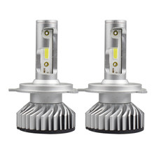 2Pcs Auto Led H7 Headlight 9005 HB3 9012 Led H4 Car Bulb 6000K COB Chip 50W 10000lm H1 H11 H4 Fog Lamp Fan All-in-one Headlamp(China)