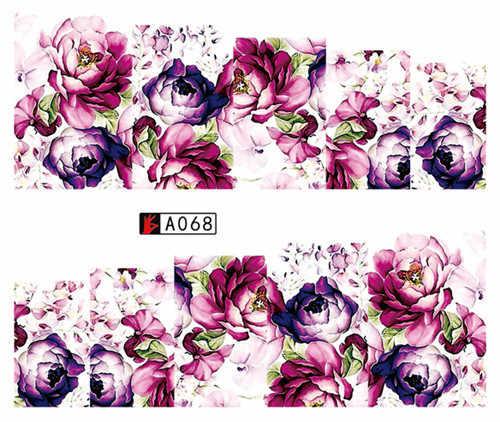 Pegatina de agua de moda para arte de uñas todas las decoraciones flor bohemia adhesivos de diseño de uñas manicura