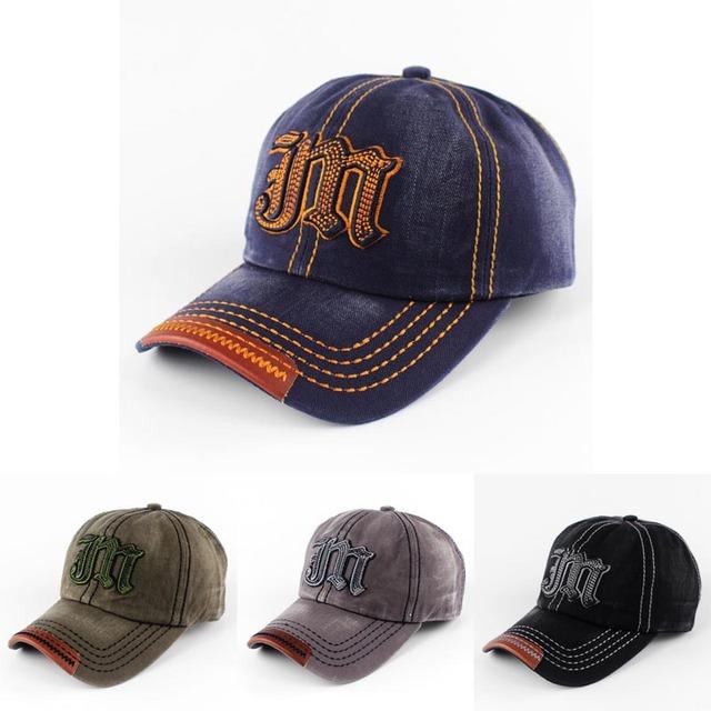 2016 nova moda unissex homens mulheres boné de beisebol Jean JM carta bordado boné de beisebol Snapback Hip Hip chapéu do verão