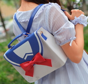 2 Ways Sailor Moon Preppy Style JK Message Shoulder Bag Backpack Pu 3 Color New moon flac style