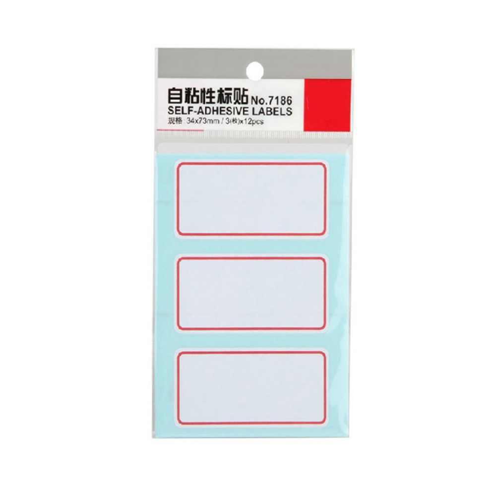 Etiquetas autoadesivas do recipiente do laboratório do escritório das etiquetas da garrafa de 34*73mm papel de impressão