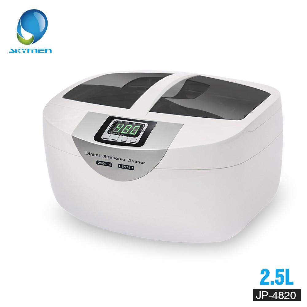 Цифровой ультразвуковой очиститель корзины ювелирные часы зубные 2.5L 60 Вт 40 кГц Отопление ультразвуковой очиститель овощей для ванной