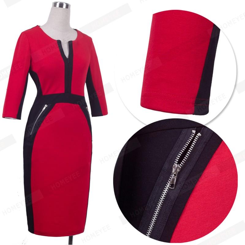 Plus Size Elegant Bodycon Pencil dress 36