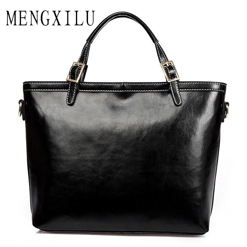 MENGXILU Split Leather Luxury Handbags Women Bags Designer High Quality Real Skin Women Shoulder Messenger Bags Totes Bolsa 2018