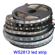 DC5V WS2813 led pixel strip 1m/4m/5m Dual-signal 30/60/144 pixels/leds/m,WS2812B Updated Black/White PCB,IP30/IP65/IP67