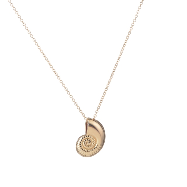 Fashion   Ariel Voice Shell Necklace Spiral Swirl Sea Snail  Gold Chain Necklace Ocean Beach Conch Necklaces GiftXL036