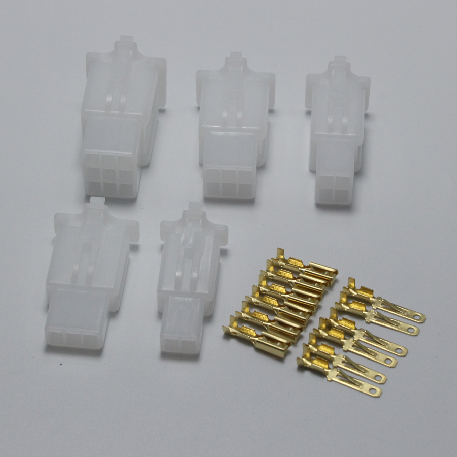 25sets 2.8mm 2/3/4/6/9 pin Automotive 2.8 Electrical wire Connector ...