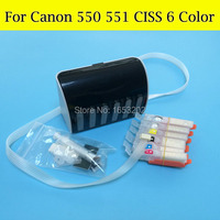 1 Set Europe 6 Color CISS For Canon PGI-550 CLI-551 550 551 551GY For Canon MG6350 6350 With ARC Chip