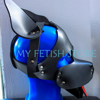 (DM8193)Top quality pup gear neoprenee dog slave mask fetish hood accessory equipment fetish wear