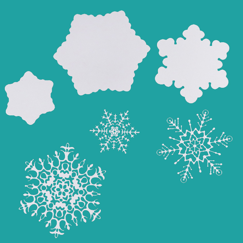 Snowflake Christmas Stamp And Dies DIY Metal Cutting Die Set Rubber Clear Stamp For Card Making Tools Scrapbooking Decor Die Cut