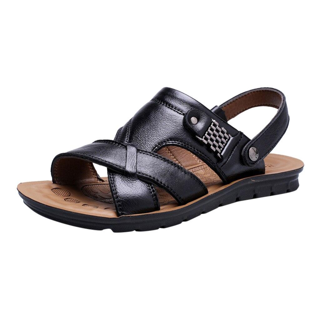 Men Shoes Slipper Beach-Sandal Comfortable Big-Size Soft Fashion Spring Apr-22