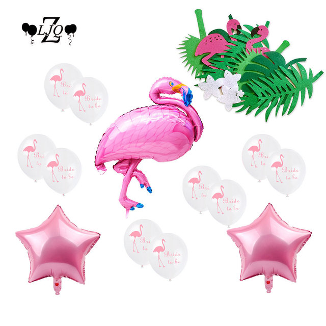 zljq bachelorette party decoration kit all included for a perfect bridal shower party flamingo bride to