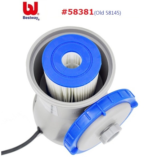 58381 Bestway 330gal Flowclear Filter Pump For 1100 8300 L Swimming