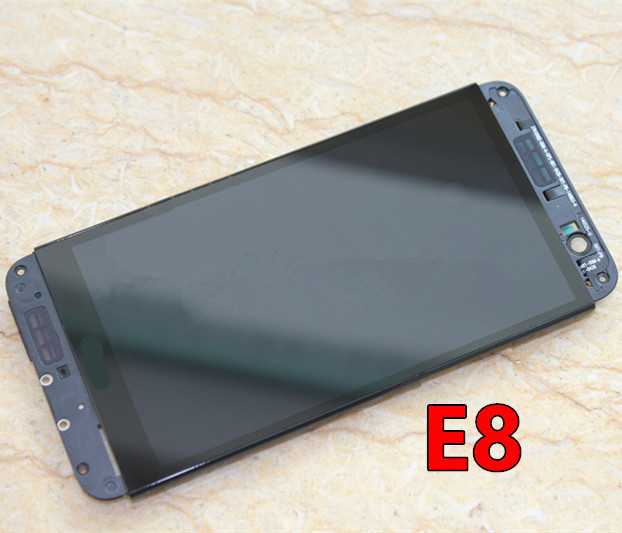 É dual sim para htc one e8 lcd assembléia screen display com frame-prata/preto