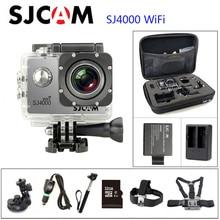 """SJCAM SJ4000 Original WIFI Acción de Buzo Cámara 1080 P HD 2.0 """"30 M Impermeable Cámara Subacuática 1080 P Deporte Conector de la cámara Conjunto"""