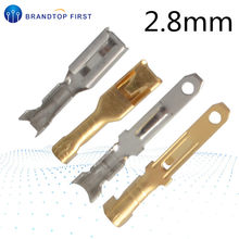 50Sets(100 Stuks) 2.8Mm Crimp Terminal Vrouw Spade Connector + Man Spade Connector + Case Voor Auto Auto Relais Printplaat