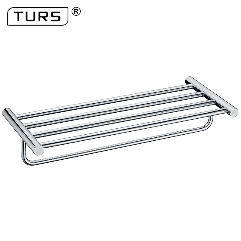 Quality Wall Mount 304 Stainless Steel Polished Chrome Finish Towel Rack Holder Hanger Bath Towel Clothes Storage Shelf leyden high quality wall mount 304 stainless steel orb chrome finish towel rack holder hanger bath towel clothes storage shelf