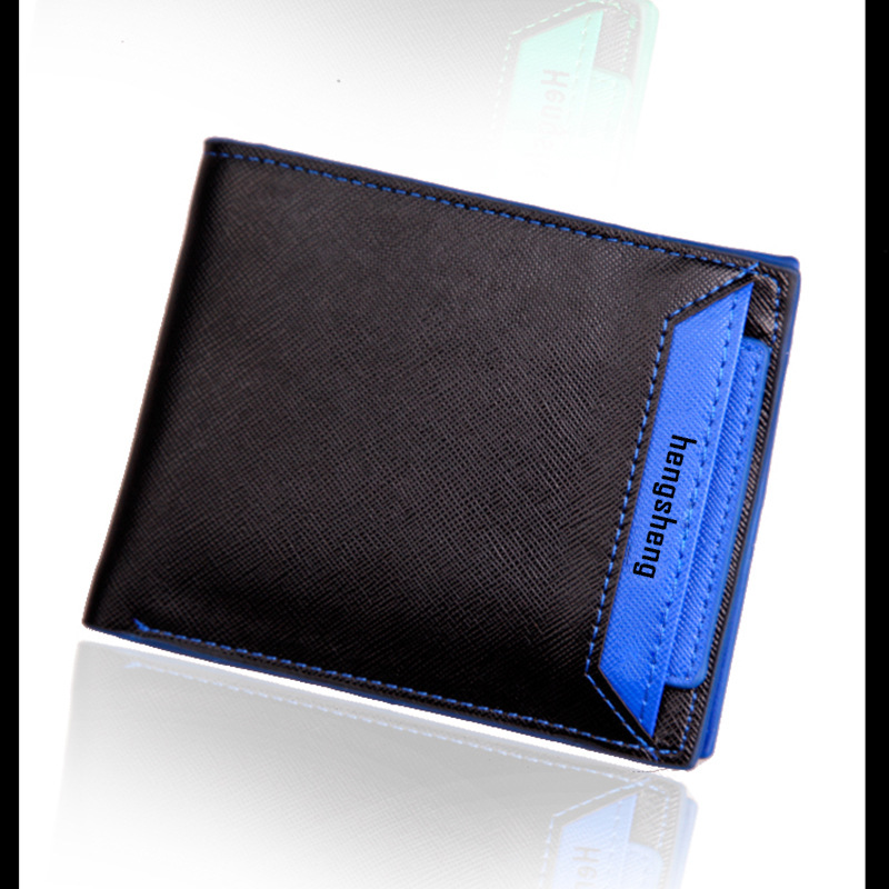 Male PU Leather Famous Brand Wallets with Credit Card Holders Man Short Designer Bifold Carteiras Purses Fashion Gift for Men 100% genuine leather men designer patchwork wallets famous brand men s wallet man fashion purse with credit bank card holders