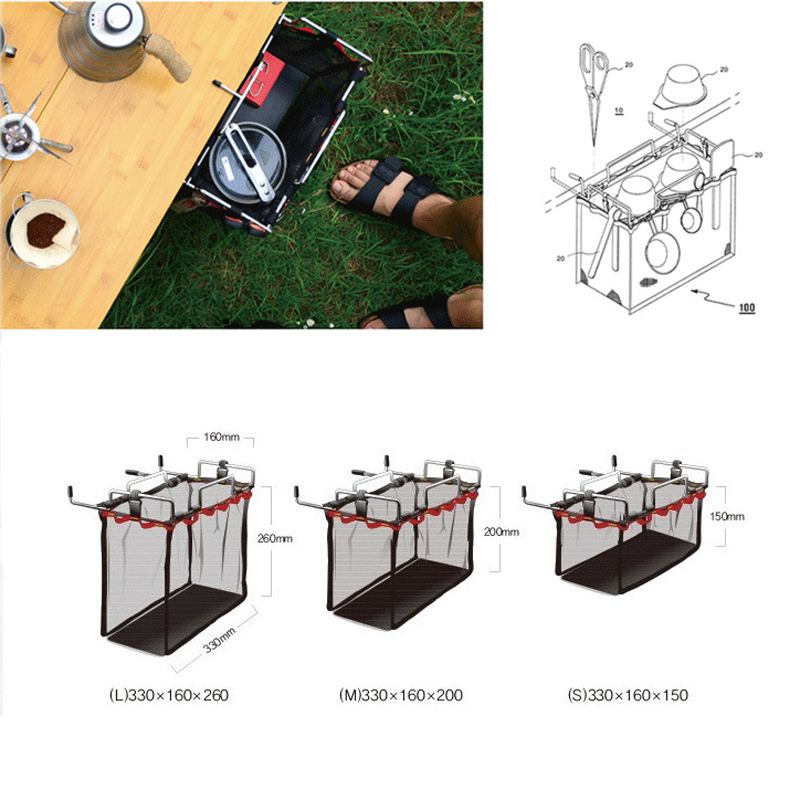 Image 3 - Portable Iron Rack Storage Bag for BBQ Picnic Kit Kitchen Sundries Organizer Large Capacity For Camping Outdoor Tools Dropship-in Outdoor Tools from Sports & Entertainment