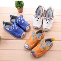 Children shoes 2016  Autumn New baby Casual Toddler sneakers Baby boy boat shoes Boy cartoon leather shoes  21-25