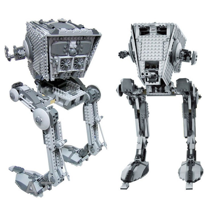 Lepin 05052 1136Pcs Space War Series The Empire AT-ST Robot Mobile Building Block 1136Pcs Brick Children Gifts 75153 rollercoasters the war of the worlds