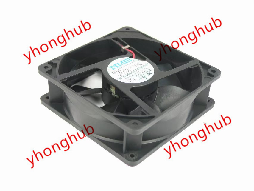 NMB-MAT 4715KL-04T-B30 P00 Server Square Fan DC 12V 0.72A 120x120x38mm 2-Pin nmb mat bt1002 b044 pol 02 server cooling fan dc 12v 0 70a 4 wire 4 pin connector